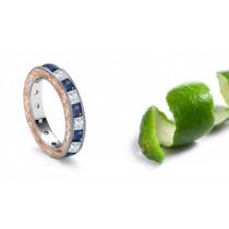 Intricate French Scrolls & Motifs Hand Engraved Sapphire Diamond Ring