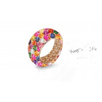 Latest Collection of White Diamonds and Colored Stone Eternity Rings and