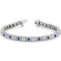 Sapphire& Diamond Bracelet and Necklace