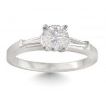 Pre-Set Diamond Engagement Matching Bands.