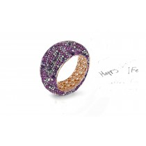 Beautiful Symbols of Lasting LoveEternity Rings Featuring Diamonds & Rubies, Emeralds & Sapphires