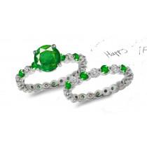 Timeless Symbol of Beauty: Fine Emerald & Diamond Engagement & Wedding Set
