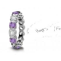 New Styles: Modern Designs with Diamonds & Purple Sapphires