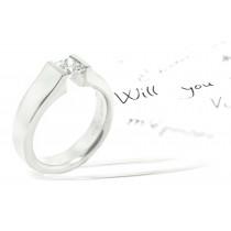 Gelin Abaci Tension Set Engagement Ring