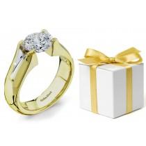 Platinum Gold Tension Set Diamond Ring
