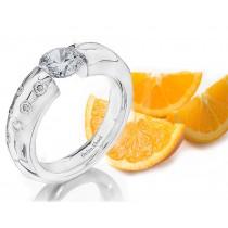 Gelin Abaci Platinum Tension Engagement Ring