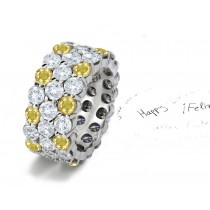 2012 New Eternity Ring Designer Gold Fullof Light Collection