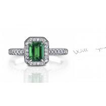 Fascinating:Genuine Emerald & Diamond Ring