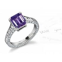 Sapphire & Diamond Engagement Rings