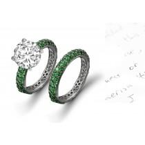Impeccable:Genuine Emerald & Diamond Ring