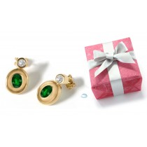 Emerald Jewelry: Emerald And Diamond Earrings
