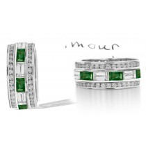 Stacked Emerald & Diamond Eternity Ring