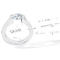 Platinum Gold Diamond Engagement Setting