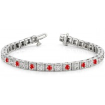 Ruby & Diamond Bracelet and Necklace