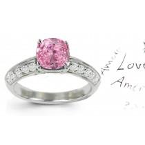PinkColored Diamonds & White Diamonds PinkDiamond Engagement Ring