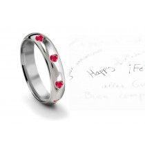 View & Mesmerize Heart Ruby Burnish Set Womens Endless Love Eternity Ring