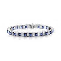 New Blue Sapphire & Diamond Bracelet and Necklace