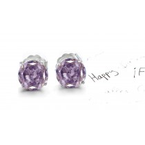 Assorted Colored Diamonds Designer Collection - Pink Colored Diamonds & White Diamonds Fancy Pink Diamond Studs