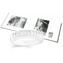 Platinum Channel Set Bagguette Diamond Anniversary Rings