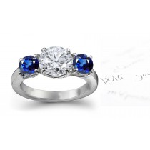 Classical Essential: An Exceptional Royal Blue Sapphire & Diamond Engagement Ring.