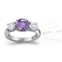 Elegant:Pink Sapphire & Diamond Designer Engagement Ring