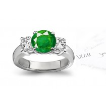 Everlasting Beauty: Premier Designer Genuine Emerald Diamond Engagement Rings