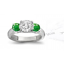 Dreams & Reality: View Fine-Quality Emerald Diamond Designer Engagement Rings