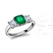 Enchanting: Stunning Lively Emerald Diamond Engagement Rings