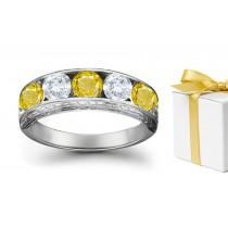 Sapphire Diamond Five StoneRings