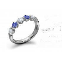 Unique Sapphire Diamond Rings