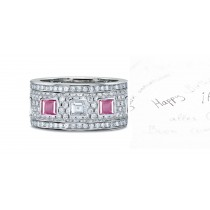 Sapphire Diamond Wedding Rings