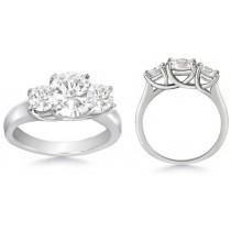 Diamond Anniversary Rings: Three Stone (Three Round Diamonds) Ring in Platinum
