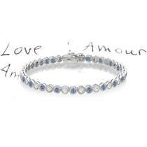 Premier Colored Diamonds Designer Collection - Blue Colored Diamonds & White Diamonds Fancy Blue Diamond Bracelet