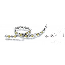 Premier Colored Diamonds Designer Collection - Yellow Colored Diamonds & White Diamonds Fancy Yellow Diamond Bracele
