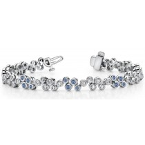 Colored Diamond Bracelets: Blue Diamonds - Blue Colored Diamond Bracelet