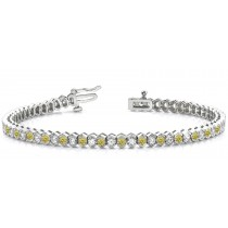 Colored Diamond Bracelets: Yellow Diamonds - Yellow Colored Diamond Bracelets