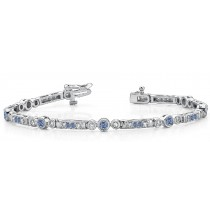 Colored Diamond Bracelets: Blue Diamonds - Blue Colored Diamond Bracelets