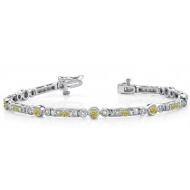 Colored Diamond Bracelets: Yellow Diamonds - Yellow Colored Diamond Bracelet