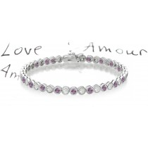 Premier Colored Diamonds Designer Collection - Pink Colored Diamonds & White Diamonds Fancy Pink Diamond Bracelets