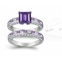 Finely Crafted Purple Sapphire Rings