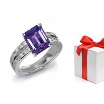 A Sparkling Purple Sapphire & Diamond Engagement Ring