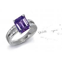 Perfection: A Brilliant Purple Sapphire Diamond Ring
