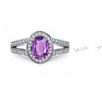 Popular: Exquisite Purple Sapphire Diamond Ring