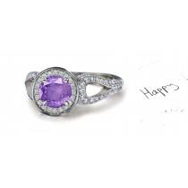 Brilliant: Purple Sapphire & Diamond Micro Pave Ring