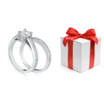 Engagement Wedding Ring Matching Set