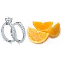 Pre-set Engagement Ring. Engagement Wedding Ring Matching Set