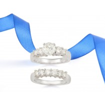Engagement Ring Matching Wedding Band.