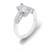 Engagement Side Accent Diamond Ring
