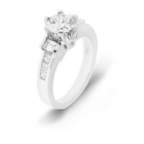 Engagement Side Accent Diamond Ring.