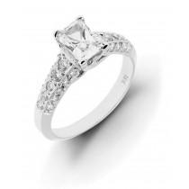 Engagement Diamond Side Accent Platinum Ring.